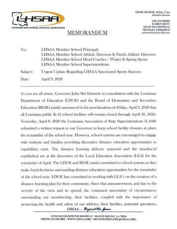 LHSAA release1